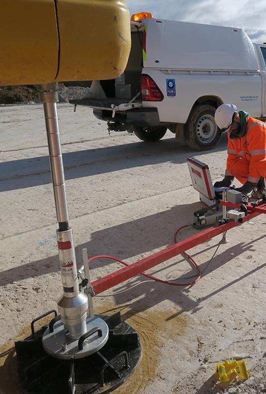 Plate Bearing, CBR & EV2 Testing